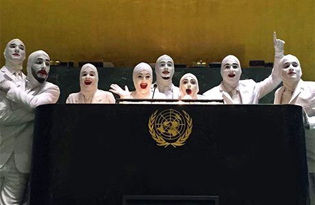 Promoting world peace, Voca People perform in the UN (United Nations) NYC